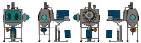 Drum Iris Pneumatic Reactor Charging Isolator