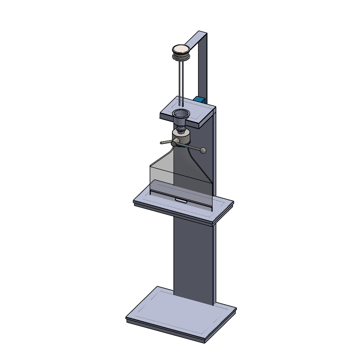 Render of split valve cleaning station