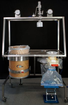 Drum Lifting Dispensing Skid structure